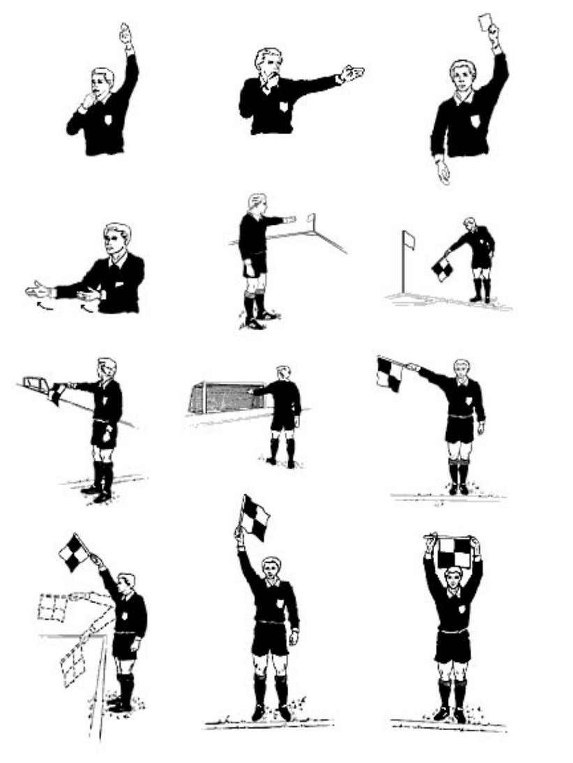 Figure 1 - Signs used by referee during a soccer game 6