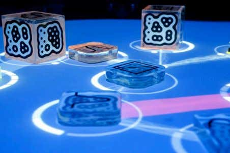 Figure 11: The reactable, a music synthesizer Markers can be attached to objects that provide