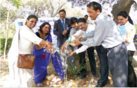 Coca-Cola Celebrates World Water Day Inauguration of a Rainwater Harvesting project in Roshanara Gardens, Delhi. The