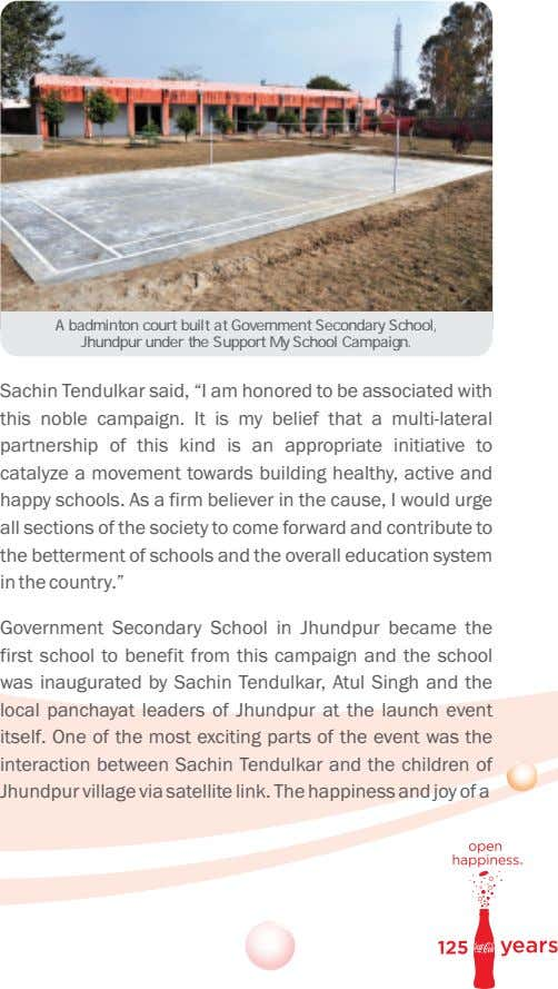 A badminton court built at Government Secondary School, Jhundpur under the Support My School Campaign.