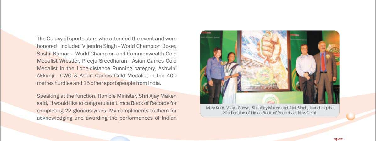 and mirror India's growing stature across the globe. The Galaxy of sports stars who attended the