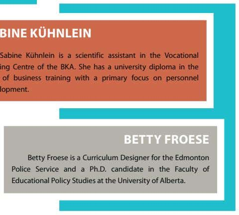 Sabine Kühnlein is a scientific assistant in the Vocational focus on personnel BETTY FROESE Betty