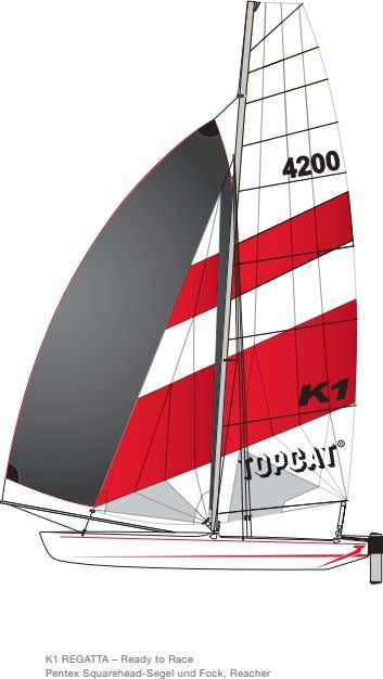 K1 REGATTA – Ready to Race Pentex Squarehead-Segel und Fock, Reacher