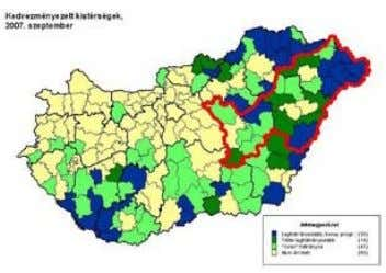 example, 6 of the 11 micro-regions are most disadvantaged. What are the characteristics of trans-frontier co-operation?