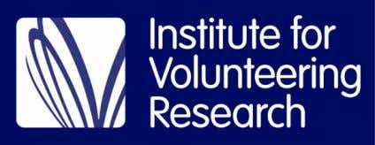 creates stronger communities – A literature review by Nissa Ramsey Institute for Volunteering Research July 2012