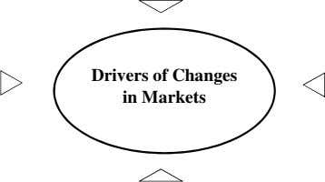 Drivers of Changes in Markets