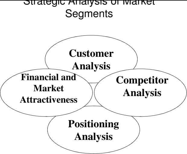 Strategic Analysis of Market Segments Customer Analysis Financial and Market Attractiveness Competitor Analysis