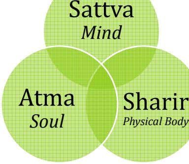 Sattva Mind Atma Sharir Soul Physical Body