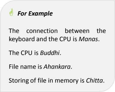 For Example The connection between the keyboard and the CPU is Manas. The CPU is