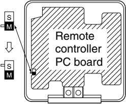 S S M Remote controller PC board S M