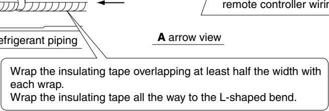 A arrow view Wrap the insulating tape overlapping at least half the width with each