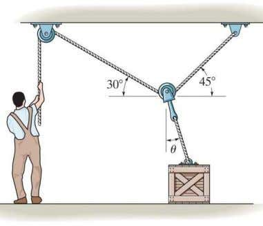 so that no single wire develops a tension exceeding 100 lb. 8–39. Determine the smallest force