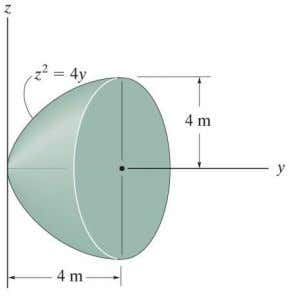 x , y ) of the homogeneous rod bent into a parabolic shape. 9–39. Locate the