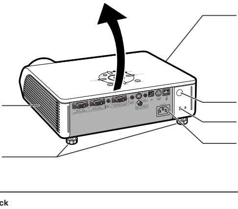 for controlling the projector using a computer via network. Exhaust vent The speed and pitch of