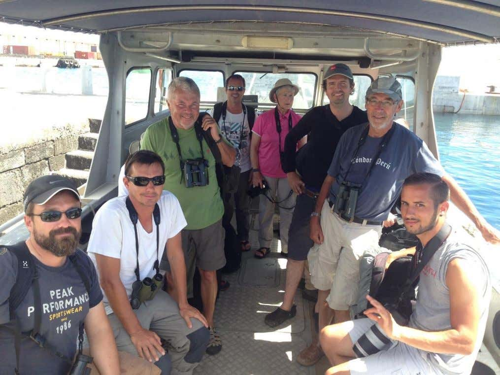 Image 21: Cory's Shearwater off Graciosa Image 22: 2016 pelagic team back in port after