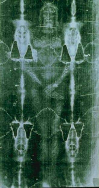Artist depiction from 1590 Front body image (negative) ©Shroud of Turin Education Project Contact: Russ Breault