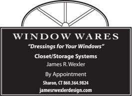 "Windo W Wares ""Dressings for Your Windows"" Closet/Storage Systems James R. Wexler By Appointment Sharon,"