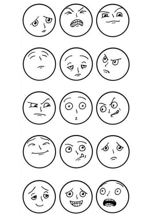 (gesture, body language, posture, and etcetera). Examples of facial expressions (source: www.edupics.com)