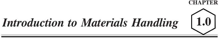 CHAPTER Introduction to Materials Handling 1.0