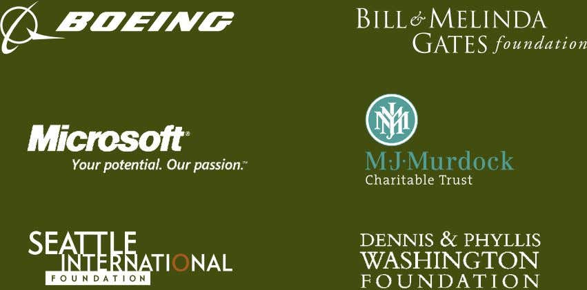 You to our generous Trends in Northwest Giving Sponsors: Thank you to Foundation Center for contributing