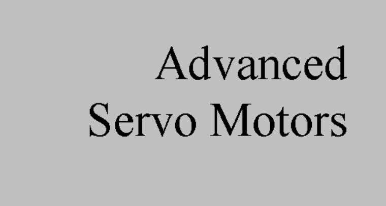 advanced servo motor functions, such as table-driven motors. Before we talk about some more of the