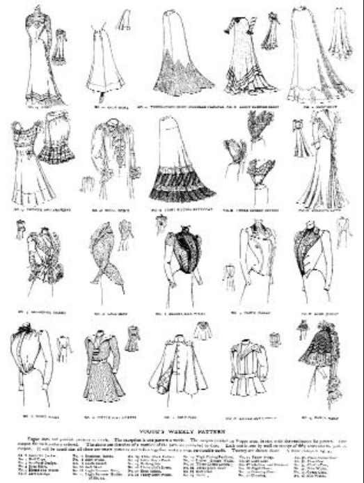 —AS SEEN Figure 1-8. In 1899 V ogue created a new department offering garment patterns for