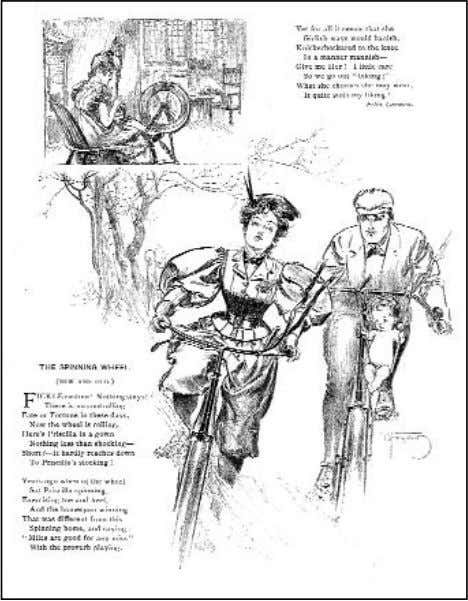 —AS SEEN Figure 2-6. In the 1890s, women by the thousands joined in the bicycling craze.