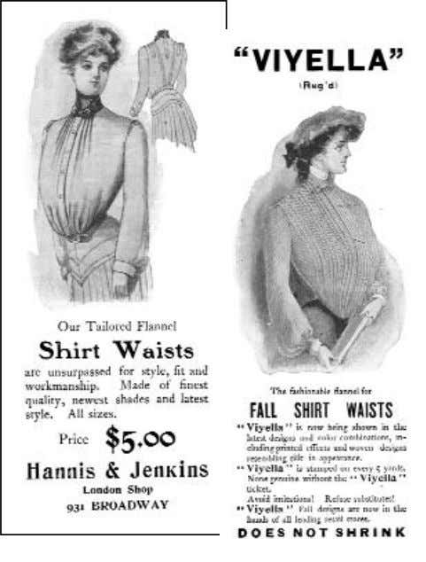 —AS SEEN IN VOGUE— Figure 2-8. The casual shirtwaist was designed to be tucked into the