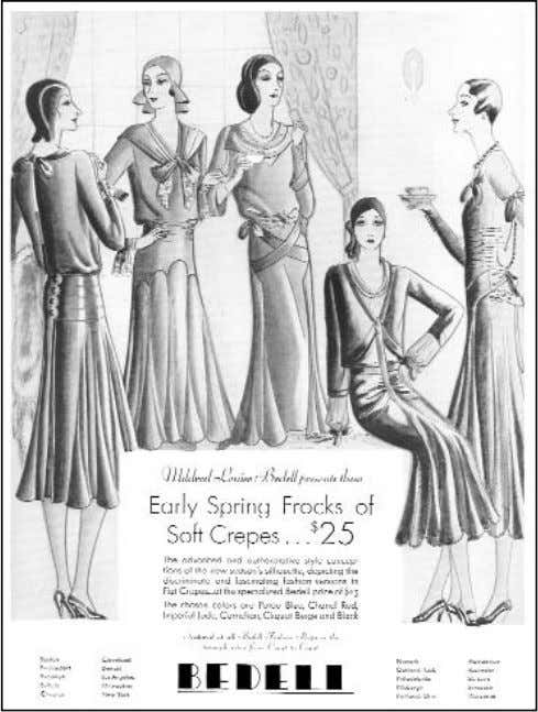 —AS SEEN Figure 3-10. By the end of 1929, ready-to-wear makers already advertised the totally new