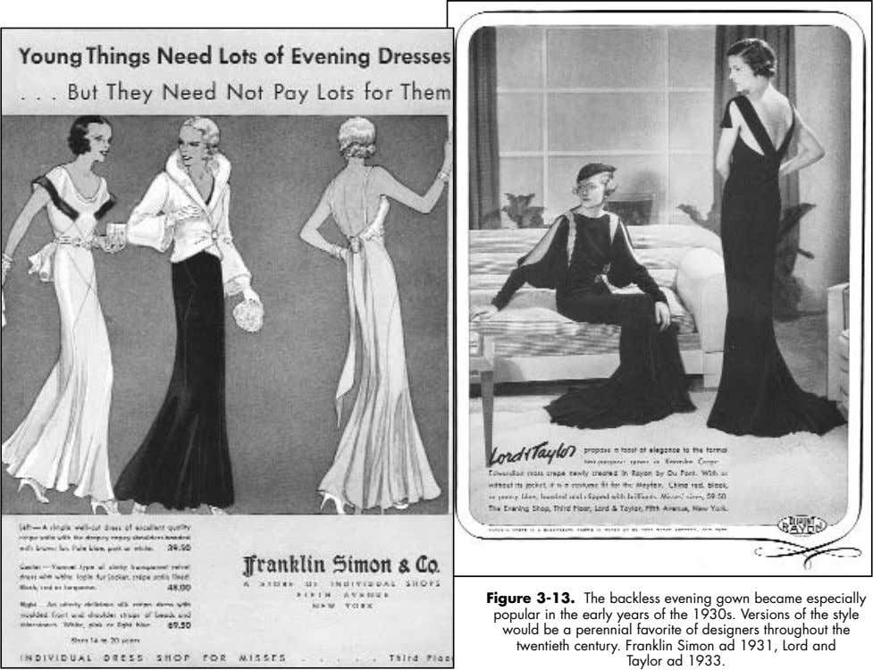 Figure 3-13. The backless evening gown became especially popular in the early years of the
