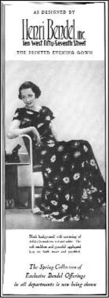 1933 Figure 3-20. Advertising in magazines helped market the names of American designers as fashion brands.