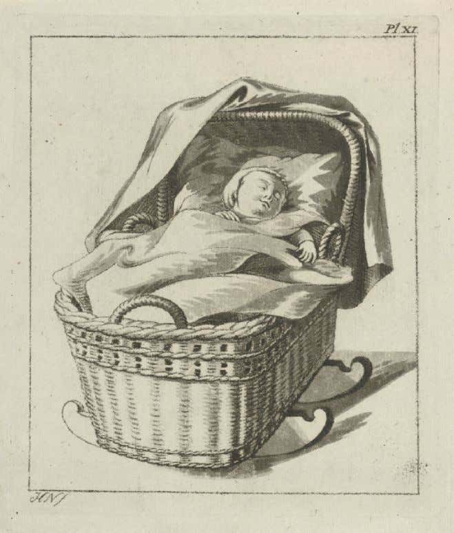 Dutch Wicker Cradle by Hermanus Numan c. 1760 - 1800 (Rijksmuseum)