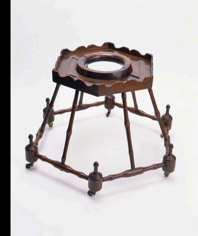 English Baby Walker of Mahogany, Ash, & Iron c. 1700 - 1750 (Victoria & Albert)