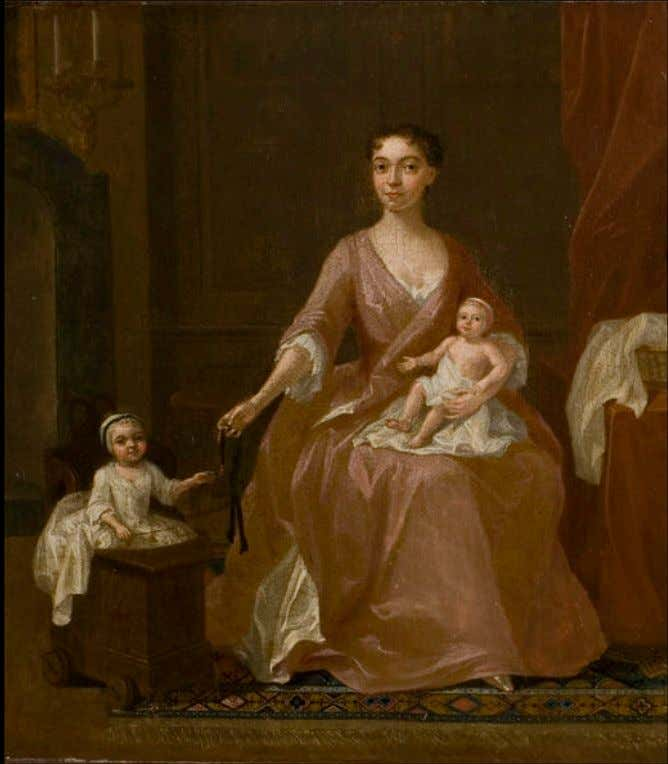 Unknown Woman with Two Children by Gawen Hamilton c. 1700 - 1750 (Victoria & Albert)