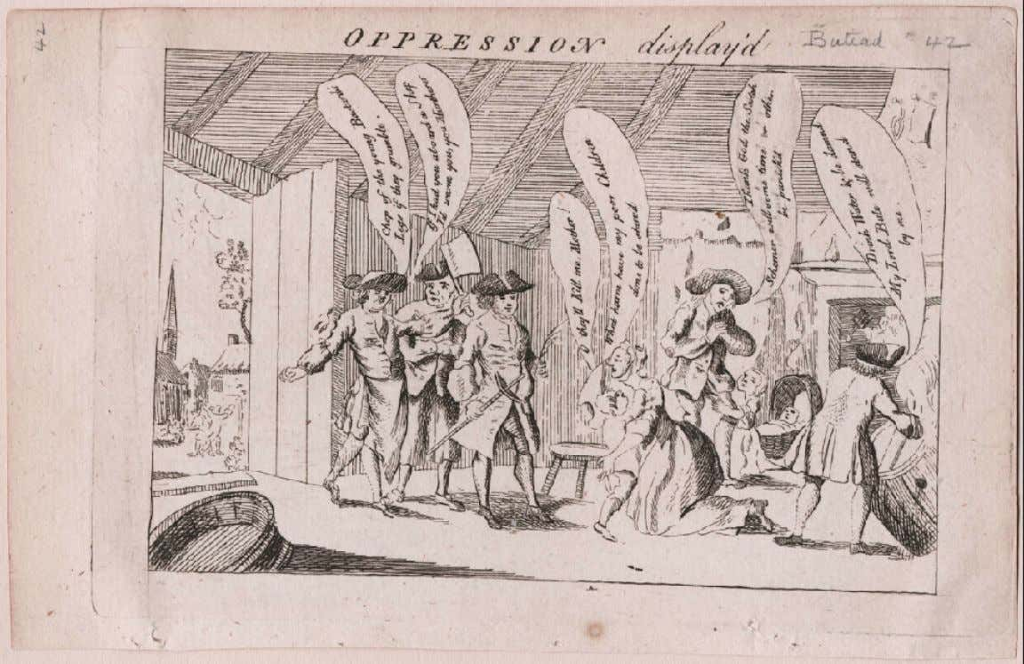 """OPPRESSION display'd"" London 1763 (Lewis Walpole Library)"