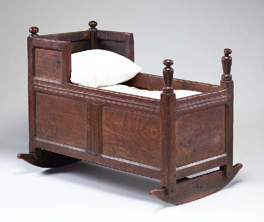 American Oak Cradle from Su ff olk County, Massachusetts c. 1640 - 1690 (Metropolitan Museum