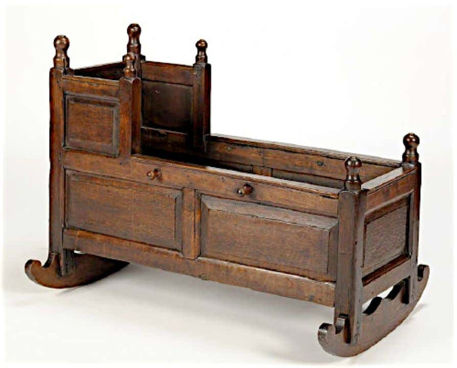 English Oak Cradle 18th Century (Anderson & Garland)