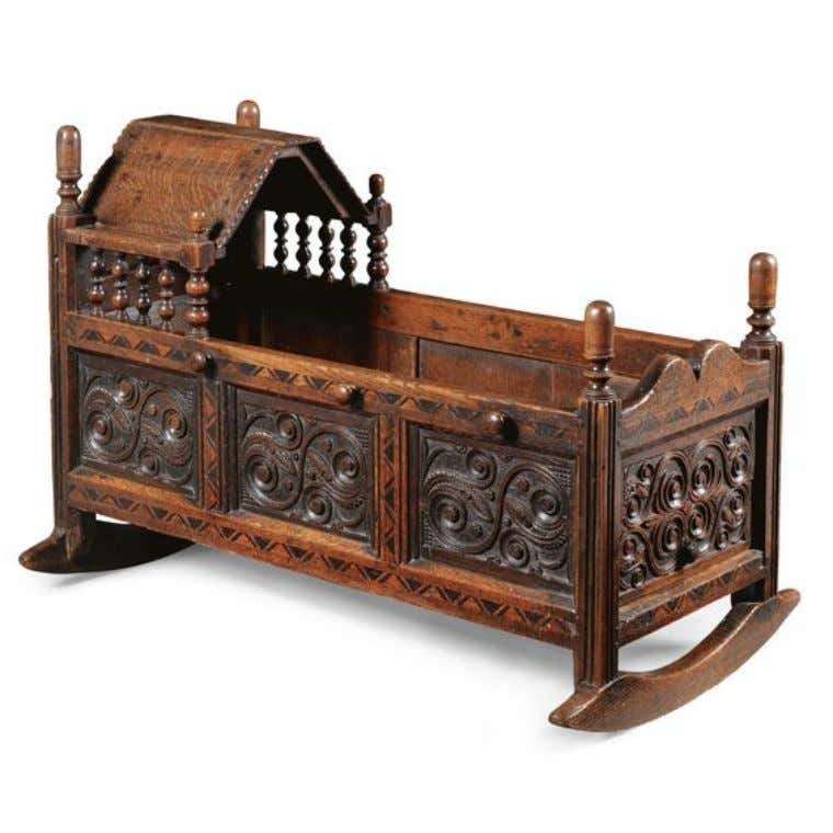 English Oak Cradle 17th Century (Sotheby's)