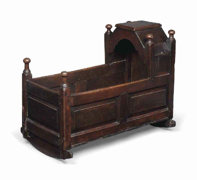 English Oak Cradle Late 17th - Early 18th Century (Christie's South Kensington)