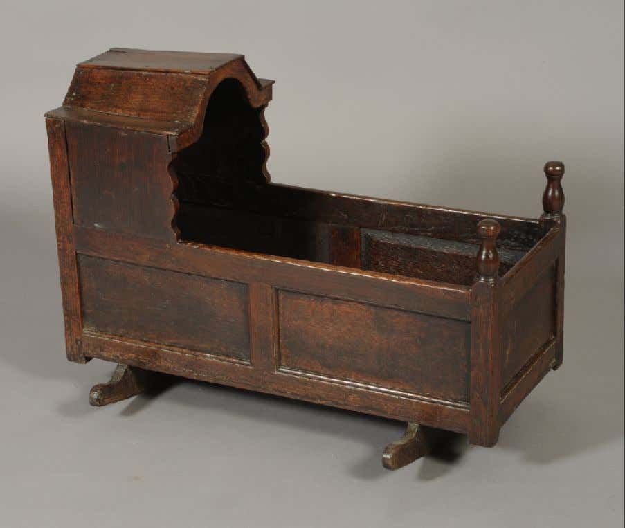 English Oak Cradle Early 18th Century (Morphets of Harrogate)