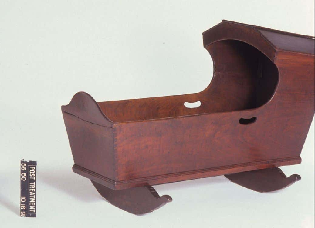 American Walnut, Tulip, & Poplar Cradle from Pennsylvania or New Jersey c. 1740 - 1800