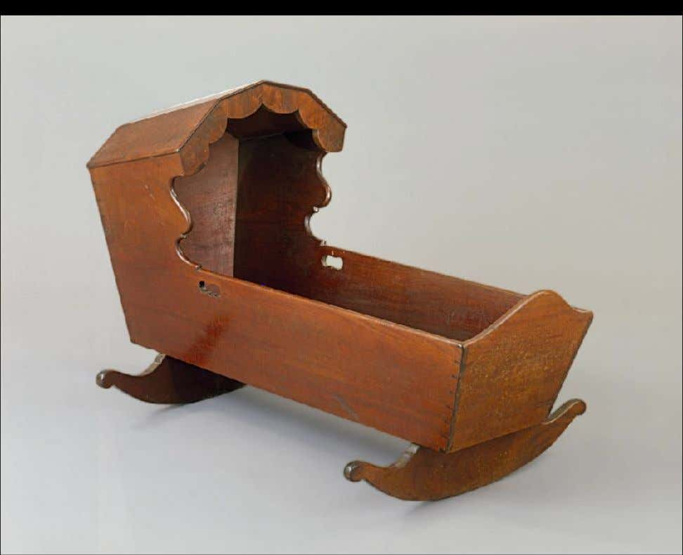 American Mahogany & Eastern White Pine Cradle from New York 1757 (Colonial Williamsburg Foundation)