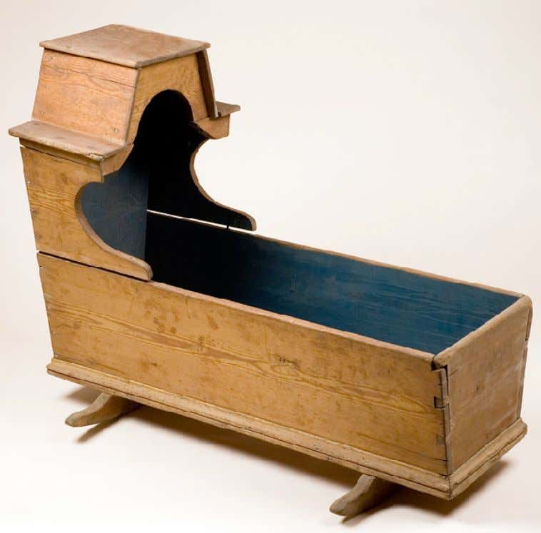 American Pine Cradle c. 1780 (Wakefield - Scearce Galleries)