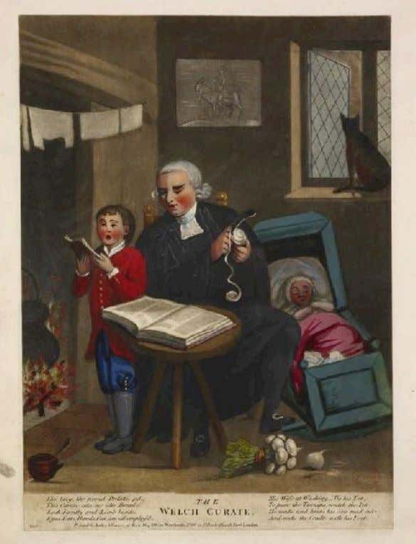 """THE WELCH CURATE"" by Carington Bowles, After Robert Dighton (The British Museum) c. 1770 -"