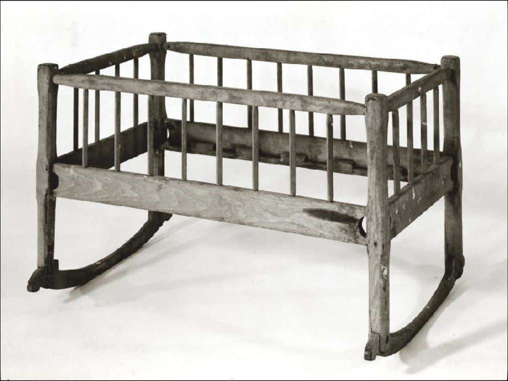 American Southern Yellow Pine Cradle c. 1750 - 1810 (Colonial Williamsburg Foundation)