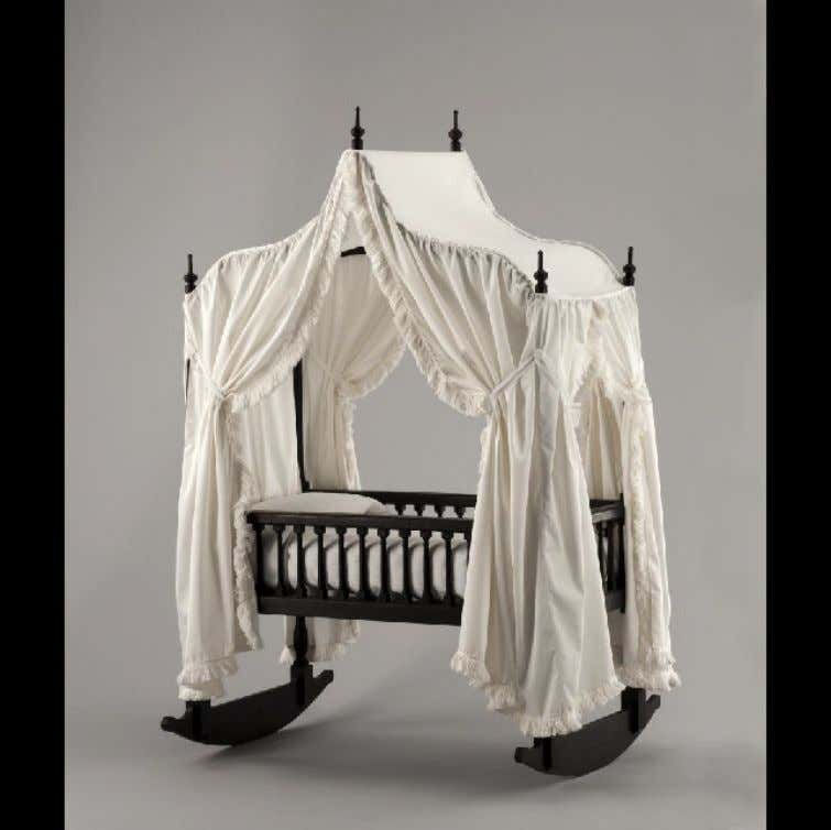 American Mahogany Crib Bedstead from Virginia c. 1750 - 1770 (Colonial Williamsburg Foundation)