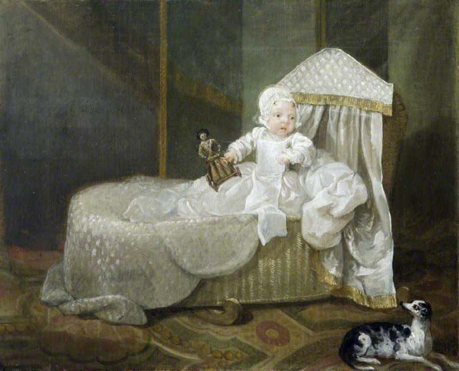 Gerard Anne Edwards Hamilton (1732–1773), in His Cradle by William Hogarth (National Trust) c. 1732