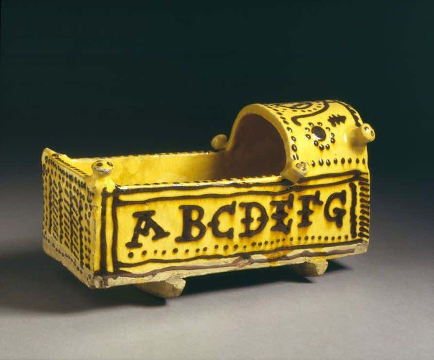 English Lead Glazed Earthenware Cradle Model c. 1700 - 1710 (Victoria & Albert)