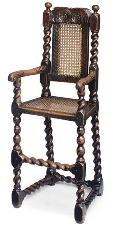 English Walnut High Chair Late 17th Century (Christie's)