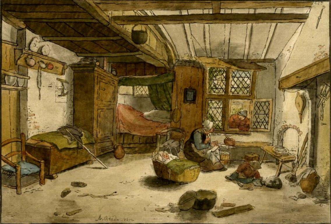 Dutch Peasant Interior by Christian Josi, After Adriaen van Ostade (The British Museum) c. 1759